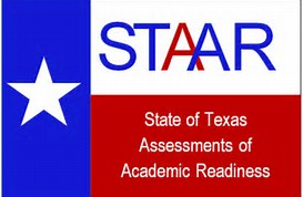 Texas flag with STAAR logo