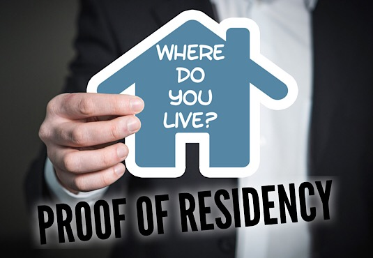 proof of residency picture of house