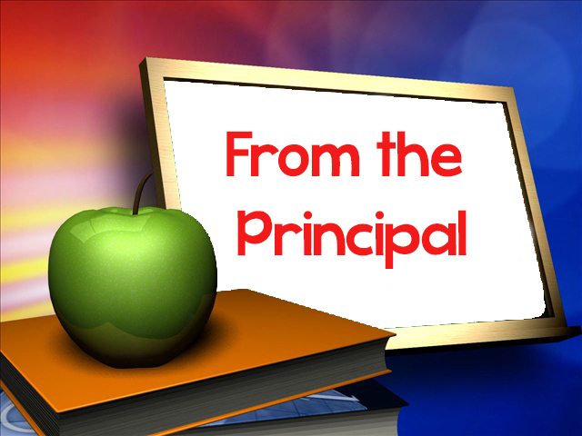 letter from the principal with apple
