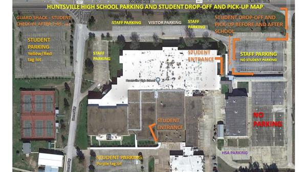 Huntsville high school parking map