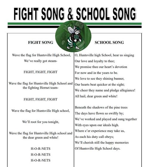 hhs school song and fight song