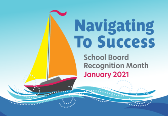 january is school board recognition month navigating to success graphic