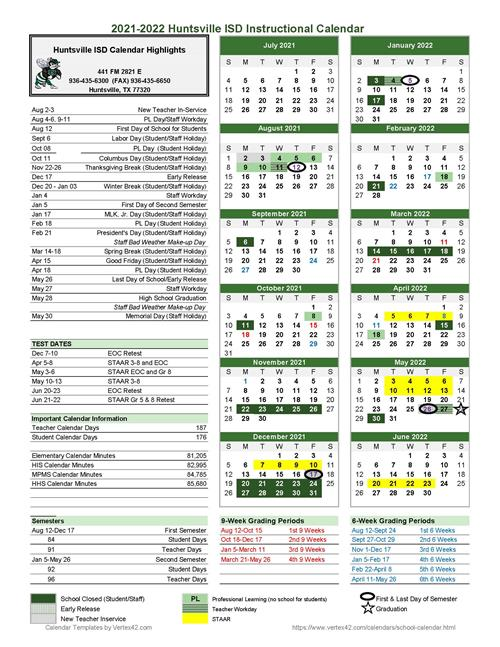 Huntsville City Schools Calendar 2022.Hisd Board Approves 2021 2022 Academic Calendar