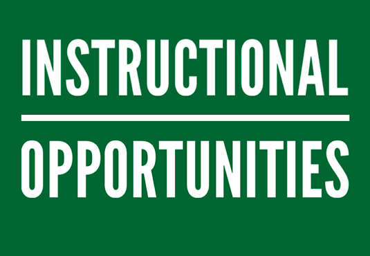 Instructional Opportunities
