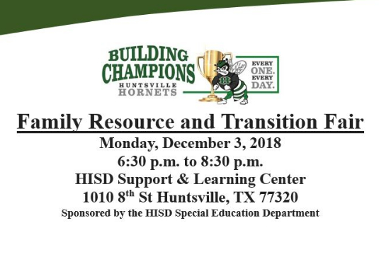 family transition & resource fair on December 3