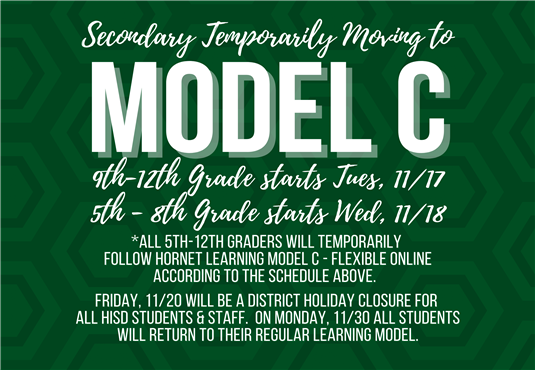 secondary students temporarily moving to Model C graphic