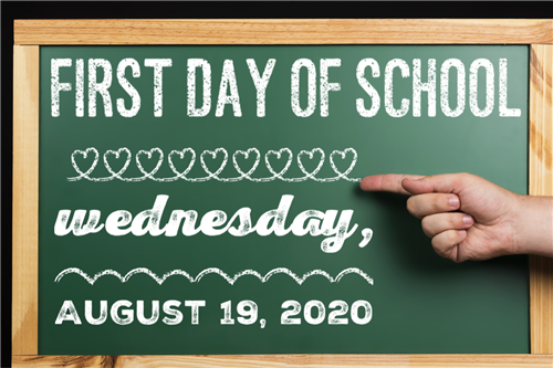 first day of school for students is august 19, 2020