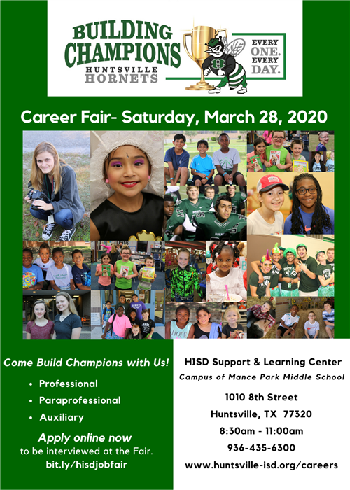 flier for career fair- saturday march 28 2020