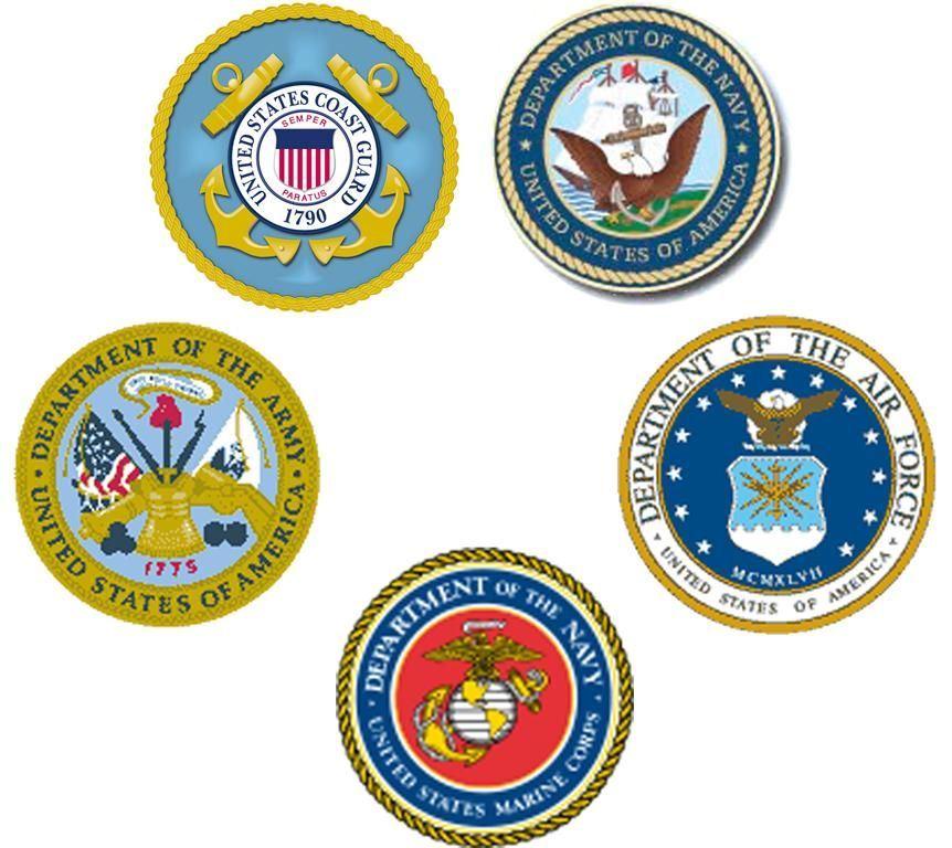 All Branches Of Military Logos Clip Art Clipart Vector Design